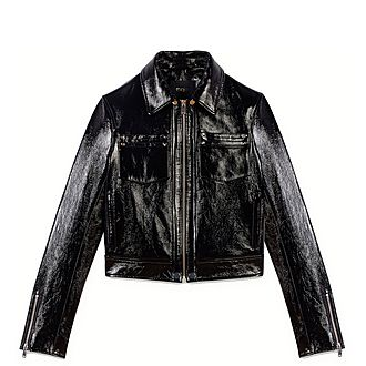 Vinyl-Style Leather Jacket