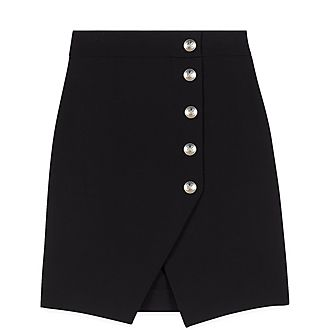 Pencil Skirt With Buttons