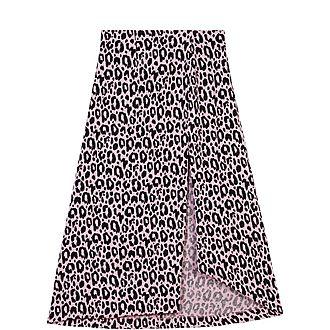 Jacquard-Printed Split Skirt