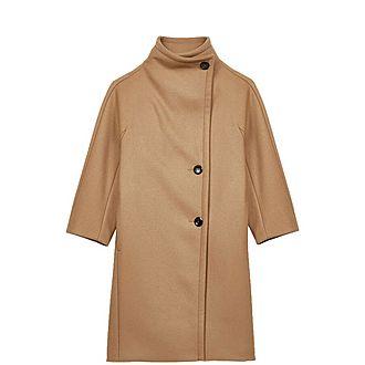 Wide Collar Woollen Coat