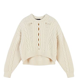 Openwork Cable Knit Sweater