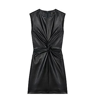 Knotted Leather Dress