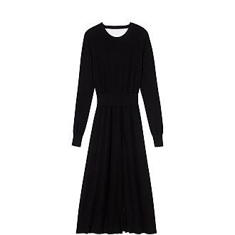 Split & Reversible Knit Dress