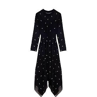 Cashmere Strass Motif  Scarf Dress