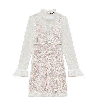 Short Guipure Lace Dress