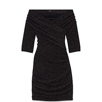 Draped Lurex Dress