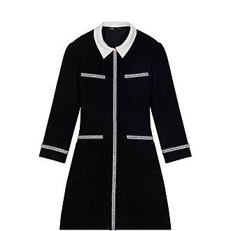 Tweed-Style Contrast Dress