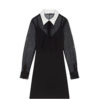 Contrast Collar Dress