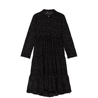 Devore Velvet Babydoll Dress