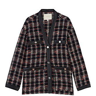 Tweed-Style Contrast Jacket