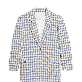 Houndstooth Tailored Tweed Jacket