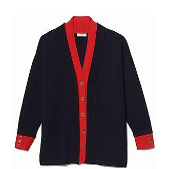 Layered Two-Tone Cardi-Coat