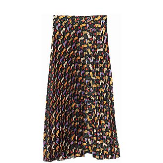 Pleated Cowboy Boot Skirt