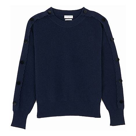 Button Sleeve Sweater, ${color}