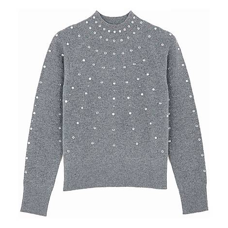 Studded Knitted Sweater, ${color}