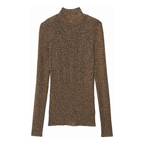 Lurex Ribbed Knit Sweater, ${color}