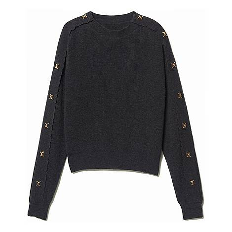 Jewel Buttoned Sweater, ${color}