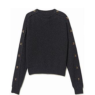 Jewel Buttoned Sweater