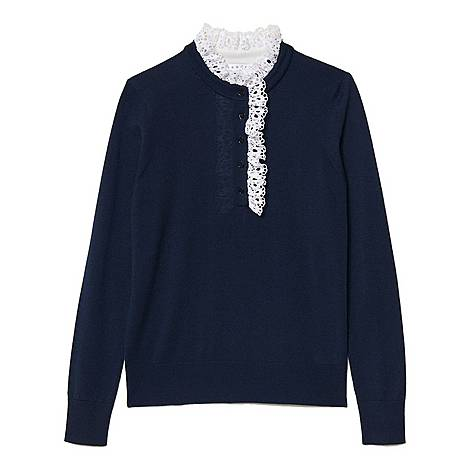Broderie Anglaise Collar Sweater, ${color}