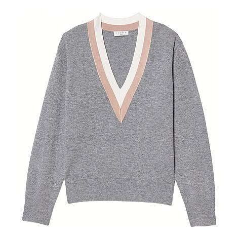 Two-Tone Trim Sweater, ${color}