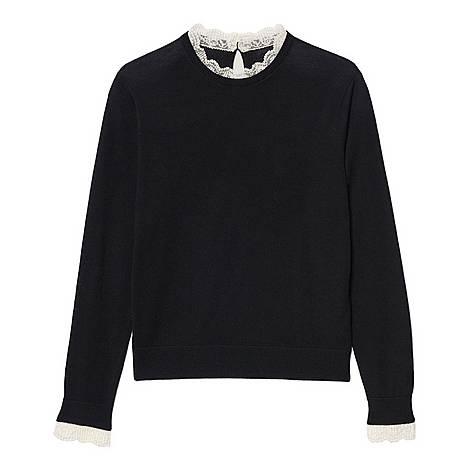 Lace-Trim Sweater, ${color}