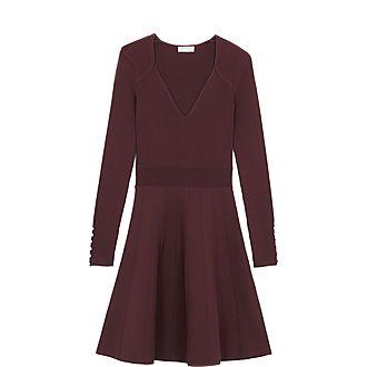 Buttoned Knit Dress