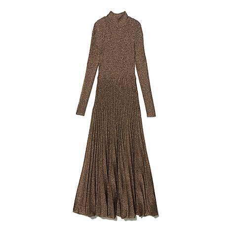 Lurex Longline Knit Dress, ${color}
