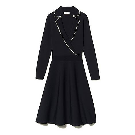 Tailored Collar Knit Dress, ${color}