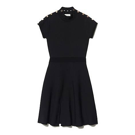 High-Neck Knit Dress, ${color}