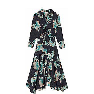 Tie Fastened Printed Dress