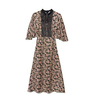 All-Over Printed Midi Dress