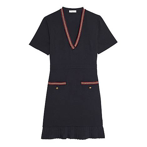 Decorative Trim Dress, ${color}