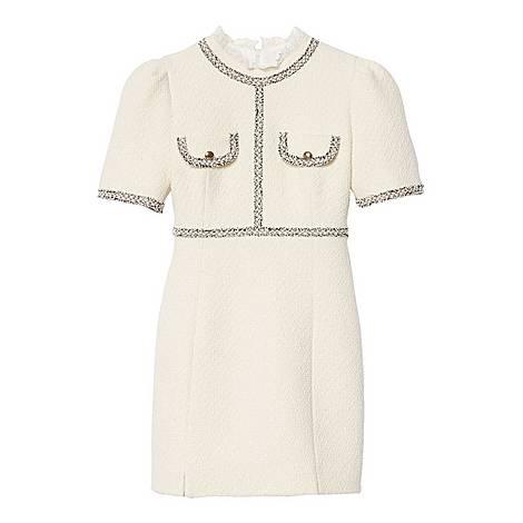 Braid Trim Tweed Dress, ${color}