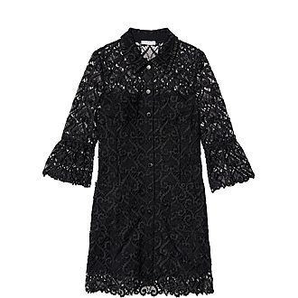 Guipure Coat Dress
