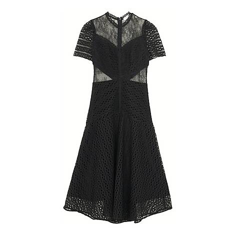 Sheer Insert Lace Dress, ${color}