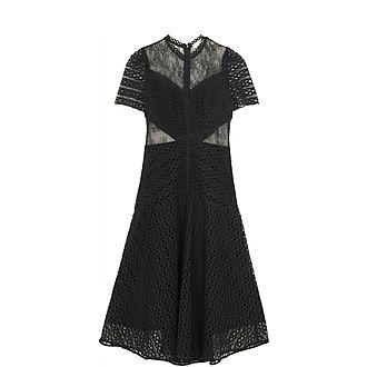 Sheer Insert Lace Dress