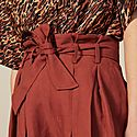 Tie Belt Pleated Shorts, ${color}
