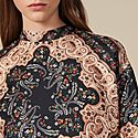 Printed Silk Twill Top, ${color}