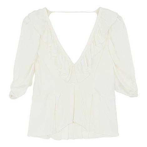 Ruffled Neck Top, ${color}