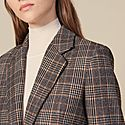 Checked Wool Blazer, ${color}