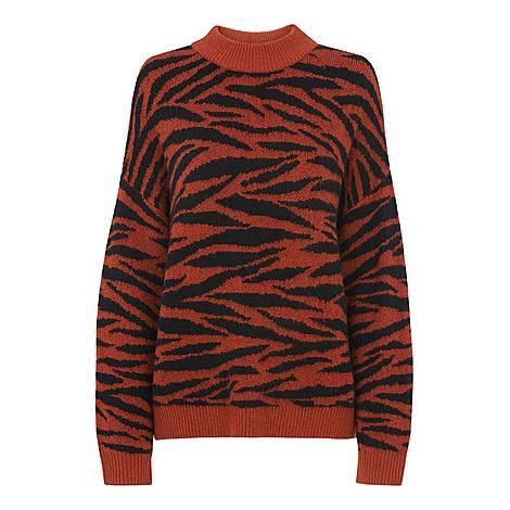Tiger Stripe Intarsia Sweater, ${color}