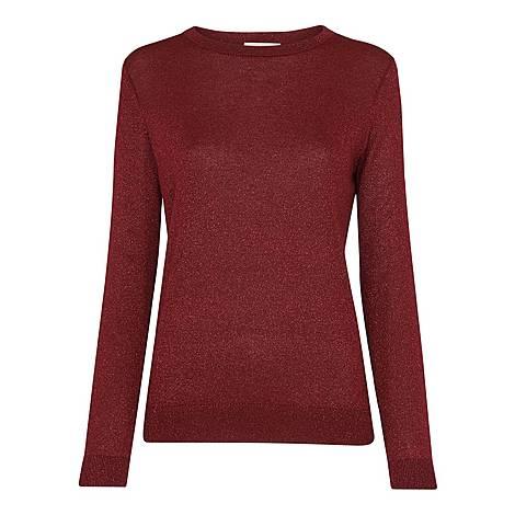 Sparkle Crew Neck Sweater, ${color}