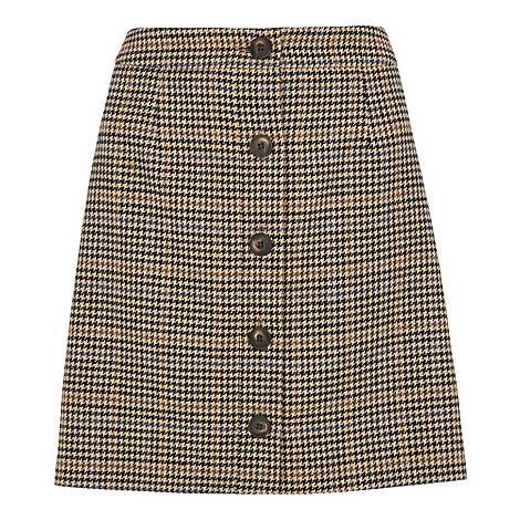 Houndstooth A-Line Skirt, ${color}