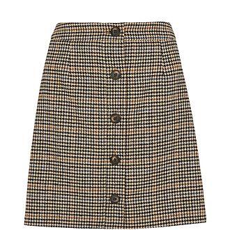 Houndstooth A-Line Skirt