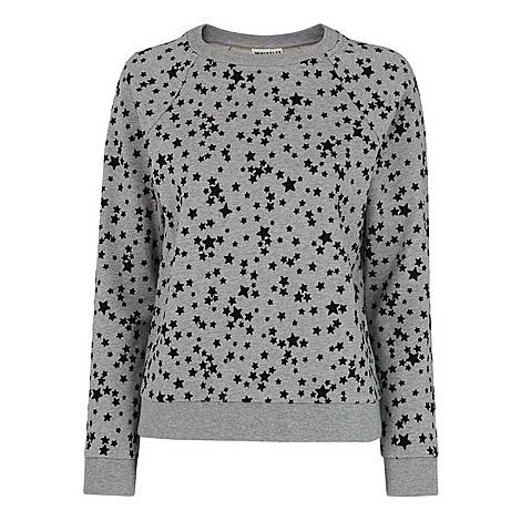 Star Flocked Sweatshirt, ${color}