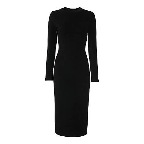 Cord Velvet Jersey Dress, ${color}