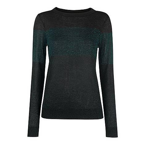 Colour Block Sparkle Sweater, ${color}