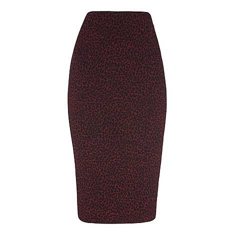 Animal Jacquard Tube Skirt, ${color}