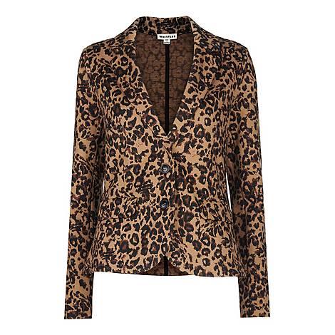 Animal Jacquard Jersey Jacket, ${color}
