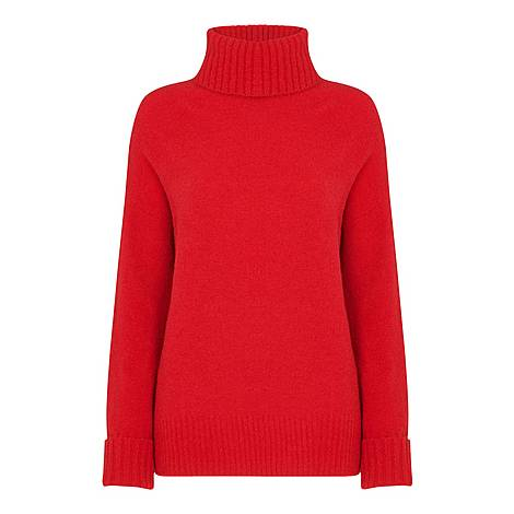 Oversized Roll Neck Sweater, ${color}